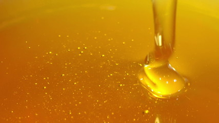 Pouring honey.