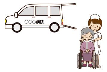 病院の送迎車