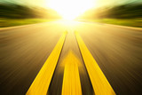 Yellow arrow Line exceeding on the road.