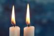 canvas print picture - Zwei Kerzen