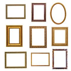 set of vintage frames in retro style