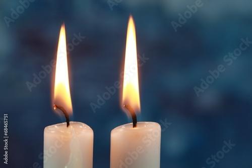 canvas print picture Zwei Kerzen