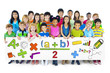 Diverse Children Holding Mathematical Symbols