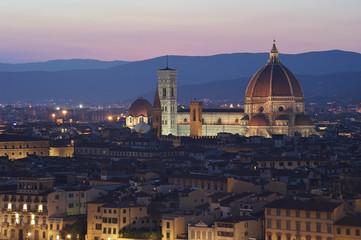 Firenze al tramonto dall'alto