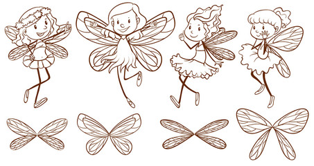 Sketch of simple fairies