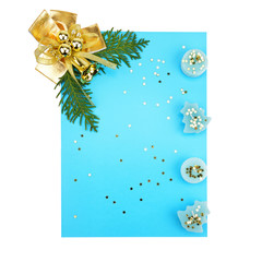 Christmas decorations and card for congratulations