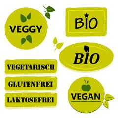 Gesundes Essen - Sticker Set