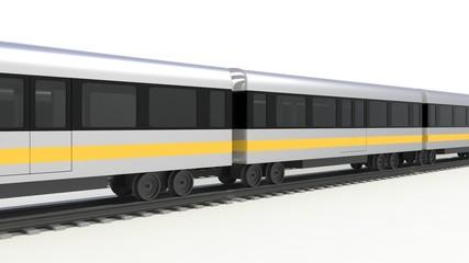 行き交う電車