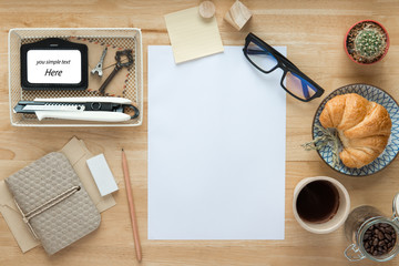 Office desk ,Working ,vintage, coffee break