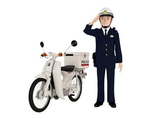 パトカーとバイク