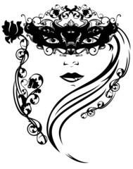 beautiful stranger girl with mask