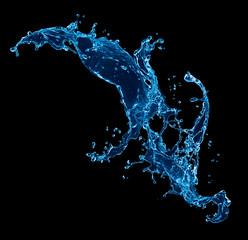 Water splash. Isolated on black background