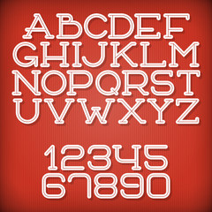 Inline Retro Font