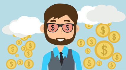 Emprendedor con sueños ambiciosos
