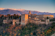 canvas print picture - Alhambra palace, Granada, Spain