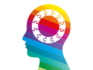 Spectrum puzzle head presentation vector