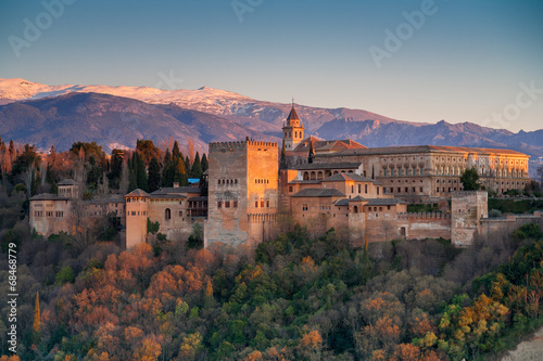canvas print picture Alhambra palace, Granada, Spain