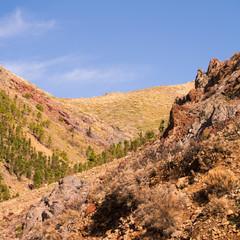 Blick über das Gebirge Teneriffas