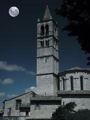Assisi - Campanile della Basilica di Santa Chiara - Notturno