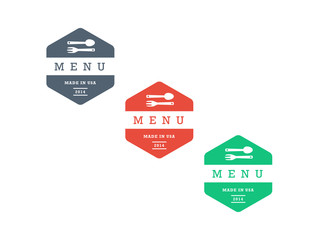 Geometric hipster restaurant menu badge sign vector
