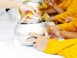 Thailand Festival and merit with monks