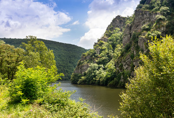 River Lot near Estaing Village, Aveyron, France