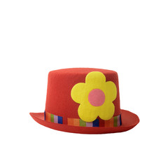 Red hat clown isolated
