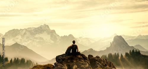 Resting Hiker - 68471155
