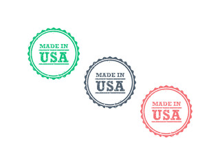 Made in USA grunge retro badge icon vector