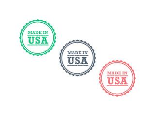 Made in USA grunge retro badge icon vector