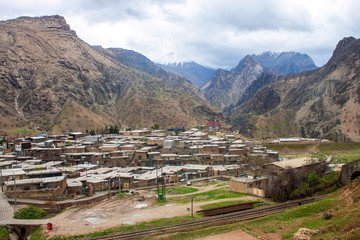 Village in Zardkouh mountains in Iran