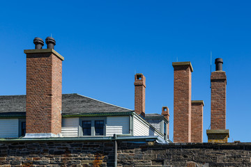 Brick Chimneys on Old Fort