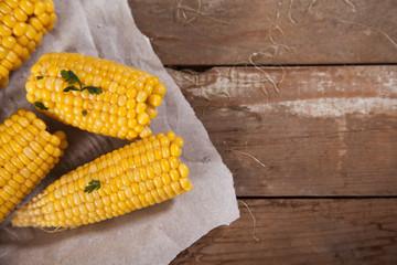 Steamed corn