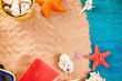 canvas print picture - Summer beach scene