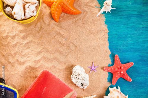 canvas print picture Summer beach scene