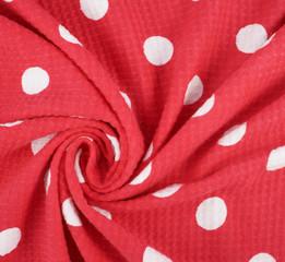 Fragment of a polka dot cloth