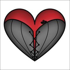 Corset heart, vector