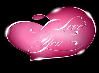 Card – I Love You, vector