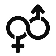 male and female Limitless symbol, vector