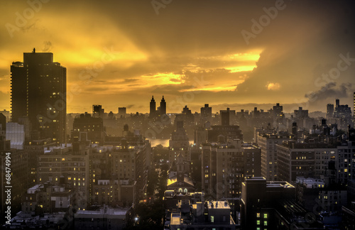 Sunset New York City Manhattan