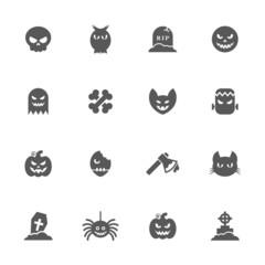 Halloween icons set.