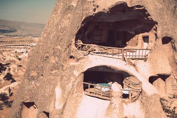 the town of Goreme in Cappadocia - Turkey