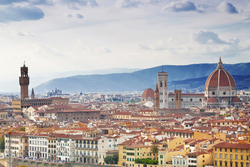 Panorama of Florence Sunny day. Italy