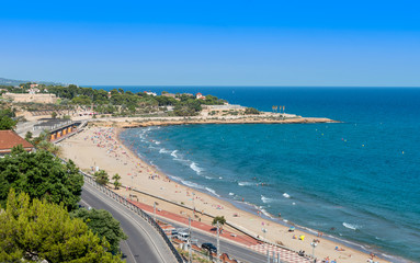View north from the Balcon De Mediterranean Tarragona Spain
