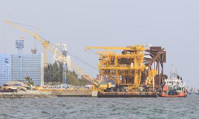 construction structure of Offshore platform petroleum site plant