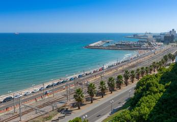 View south from the Balcon De Mediterranean Tarragona Spain