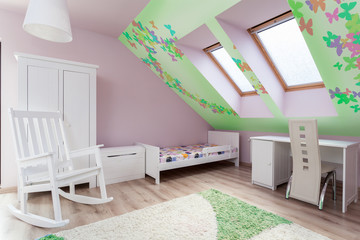 Child's room in the attic