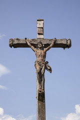 statue of Jesus on the cross