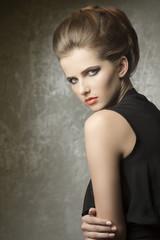 charming lady in fashion portrait