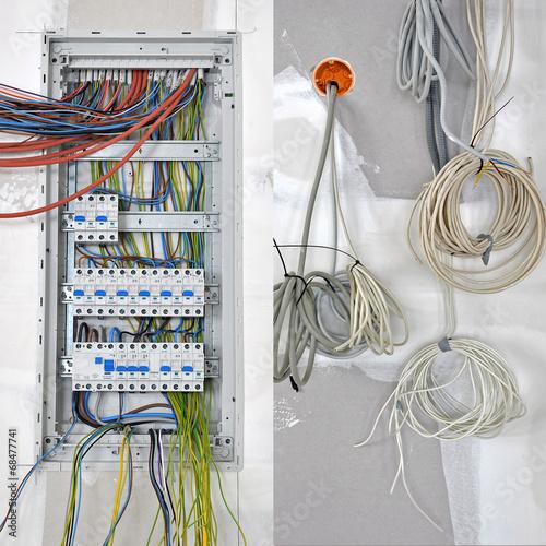 Leinwanddruck Bild elektrik